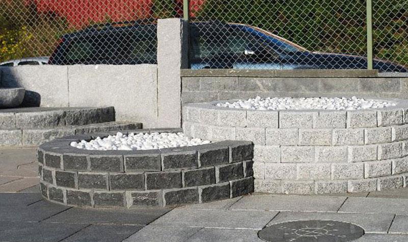 Mursten 10:an i granit 200/150x200x100 mm